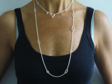 Silver anchor chain necklace made in Tuscany