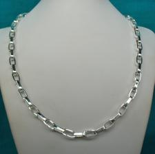 Sterling silver men's chain necklace
