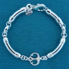 Sterling silver anchor bracelet made in Italy