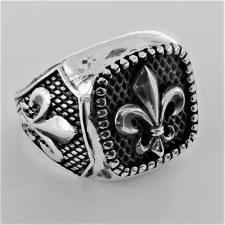 Anello giglio borbonico argento brunito