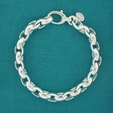 Braccialetto maglie ovali in argento