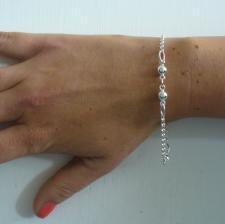 Gioielli in argento bracciale catena e palline - Braccialetti piccoli in argento.