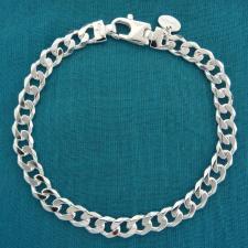 Bracciale uomo groumette diamantata 6 lati. Larghezza 6,5mm.