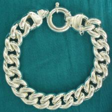 Sterling silver curb bracelet 14mm