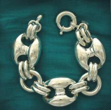 Bracciale argento 925 maglia marina 27mm - Bracciale donna argento 925