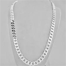 Sterling silver solid diamond cut curb necklace 8.2mm x 3mm. LENGTH 60 CM.