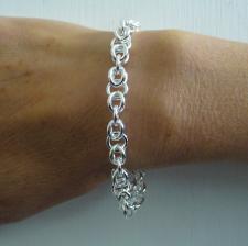 Sterling silver Italian cestina link bracelet