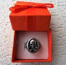 Anello uomo con teschio in argento 925
