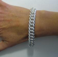 Sterling silver double curb bracelet