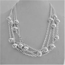 Solid sterling silver necklace. Women's, 925 Italy silver necklace. Four chains.