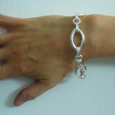 Bracciale argento maglia ogiva 17mm - Bracciale donna argento
