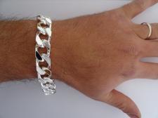 Bracciale grumetta uomo diamantata - Catena uomo