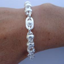 Vintage silver bracelet made in tuscany