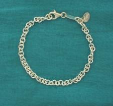 Bracciale per ciondoli in argento - Bracciale per charms in argento.