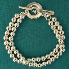 Bracciale con chiusura toggle in argento