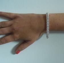 Bracciale donna in argento 925 -  Grumetta 7mm