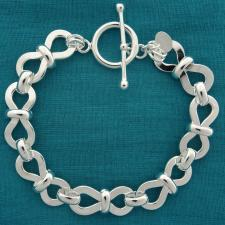 Chiusura toggle bracciale argento