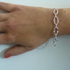 Braccialetto maglia lunga con congiunzione -  Gioielli argento 925