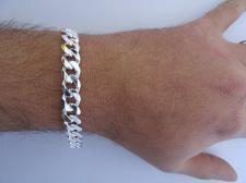 Solid curb bracelet in sterling silver