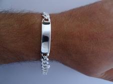 Bracciale argento piastra - Bracciale targa