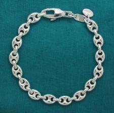 Bracciale argento maglia marina 7,5mm.