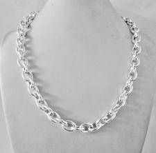 Collana in argento 925 catena forzatina ovale 10mm.