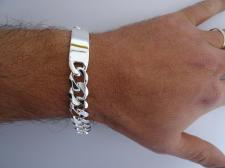 Braccialetto argento piastra - Bracciale uomo