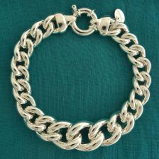 Italy sterling silver curb bracelet made in Italy