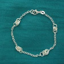 Braccialetto catena forzatina fantasia. Gioielli in argento.