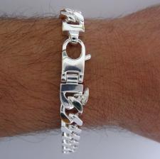 ID bracelet in 925 sterling silver