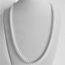 Collana unisex maglia Spiga in argento 925 massiccio. Larghezza 4mm. Lunghezza 55 cm.