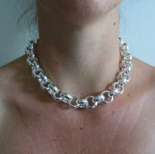 Belcher necklace in sterling silver