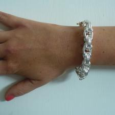 Bracciale argento maglia bizantina