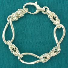 Bracciale maglia bizantina in argento