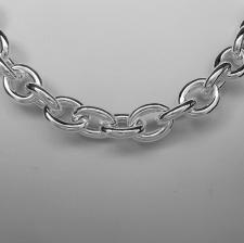Catena maglie ovali in argento 925.
