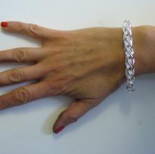 Gioielli in argento 925 - bracciale catena spiga palmier piccola