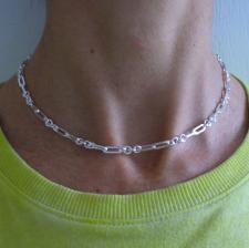 Girocolli in argento 925 maglia allungata