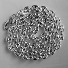CLASSICA Collana maglia marina in argento 925. Larghezza maglia 7,5mm. Lunghezza 60cm.