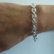Bracciale donna argento 925 maglia marinara.