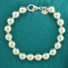 Sterling silver bead bracelet for woman - 10mm