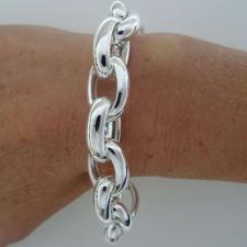 Bracciale argento maglia ovale vuota
