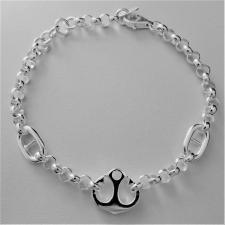 Sterling silver anchor bracelet.