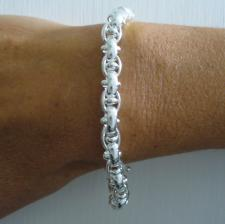 Solid sterling silver bracelet 7mm