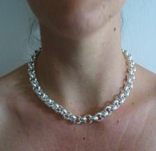Collana in argento 925 rolo tondo 12mm - Collana donna in argento 925