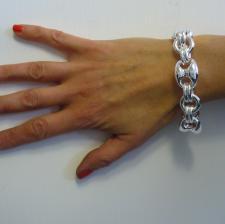 Bracciale in argento 925 catena maglia marinara 20mm.