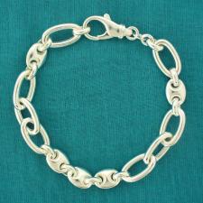 Women's maglia marina & oval link bracelet in sterling silver.