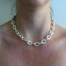 Oval links necklace in sterling silver