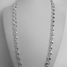 Collana catena marinara 8mm in argento. Cm 60.