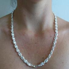 Collana maglia marina 8mm cm 60 - Collana uomo in argento