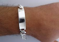Sterling silver ID identity bracelet 12mm.